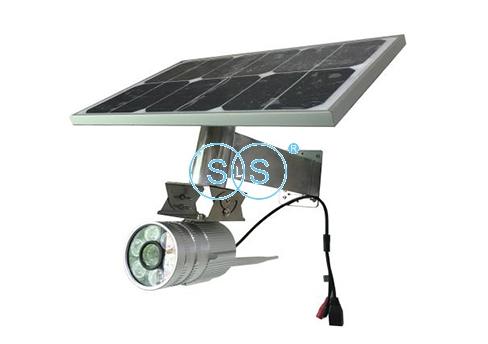 LCD太阳能有线枪机型摄像头